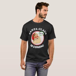 Weihnachtsmann ist kommendes lustiges frohe T-Shirt