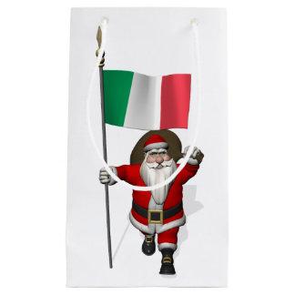 Weihnachtsmann mit Fahne von Italien Kleine Geschenktüte