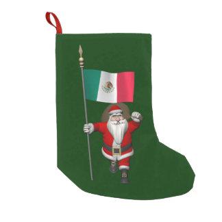 Weihnachtsmann mit Fahne von Mexiko Kleiner Weihnachtsstrumpf
