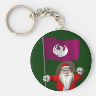 Weihnachtsmann mit Fahne von Phoenix Schlüsselanhänger