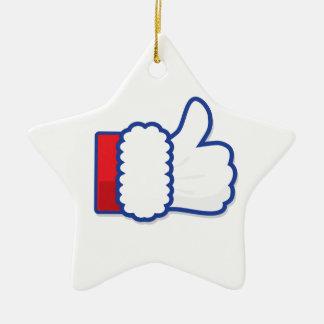 Weihnachtsmann mögen Ikone Keramik Ornament