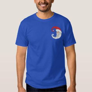 Weihnachtsmann-Mond Besticktes T-Shirt