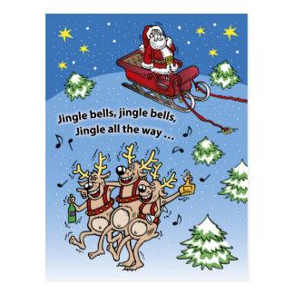 Weihnachtsmann-Nr. 11 (vertikal) Postkarte