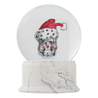 Weihnachtsmann-Schnekugel - Schädel Sankt Schneekugel