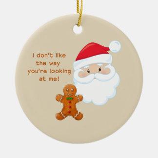 Weihnachtsmann- u. Lebkuchen-Junge Keramik Ornament