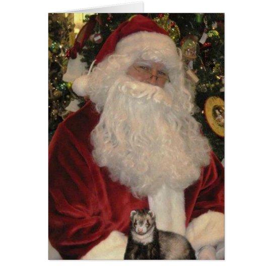 Weihnachtsmann und das Frettchen Mitteilungskarte