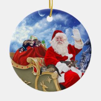 Weihnachtsmann und seine keramik ornament