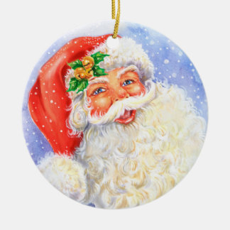 Weihnachtsmann-Verzierung Keramik Ornament