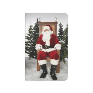Weihnachtsmann-Weihnachtsfeiertags-Weihnachten Taschennotizbuch