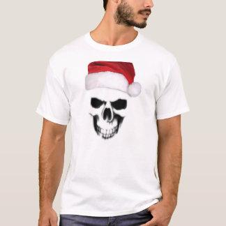 Weihnachtsmann-Weihnachtsschädel-Todesmaschinen-T T-Shirt