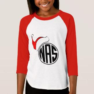 Weihnachtsmannmütze mit Monogramm-Shirt - Kinder T-Shirt