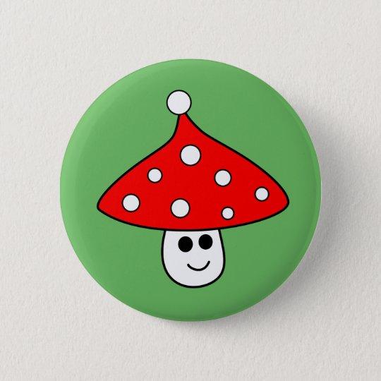 Weihnachtsmannmütze-Pilz-Knopf Runder Button 5,7 Cm