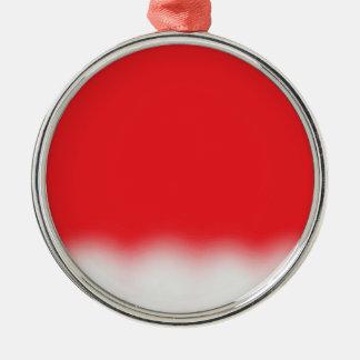 Weihnachtsmannmütze Silbernes Ornament