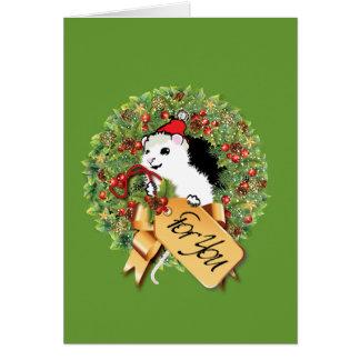 Weihnachtsmaus Karte
