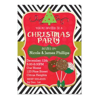 Weihnachtsmoderne Baum-u. -kuchen-Pop-Einladungen Karte