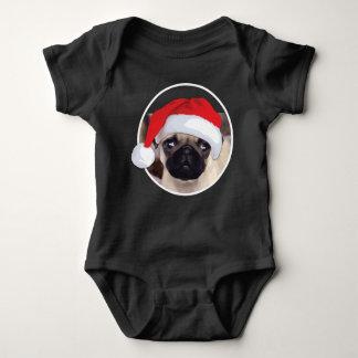 WeihnachtsMops - Baby-Jersey-Bodysuit Baby Strampler