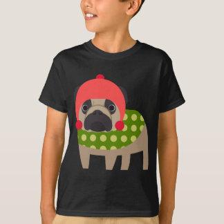 WeihnachtsMops-Hund T-Shirt