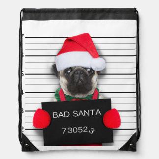 WeihnachtsMops - Mugshothund - Sankt-Mops Turnbeutel