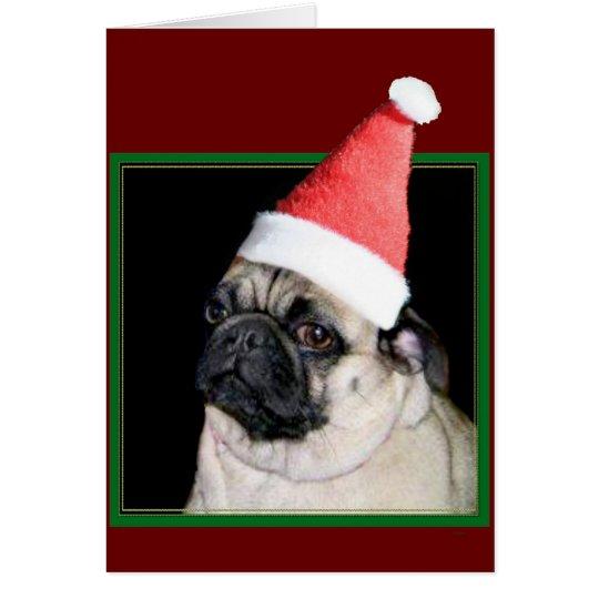 WeihnachtsMopshund Karte