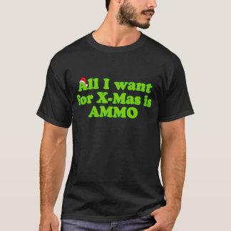 Weihnachtsmunitions-Munition T-Shirt