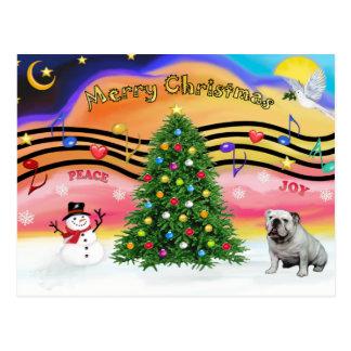 Weihnachtsmusik 2 - englische Bulldogge (9) Postkarte