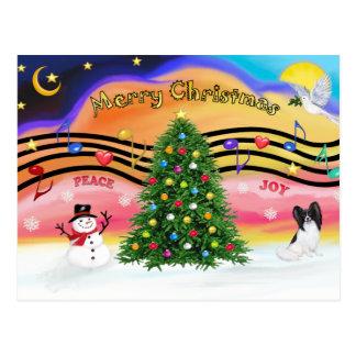 Weihnachtsmusik 2 - Papillon Postkarte