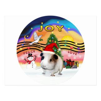 Weihnachtsmusik - Guinea Pig1 (Hut) Postkarte