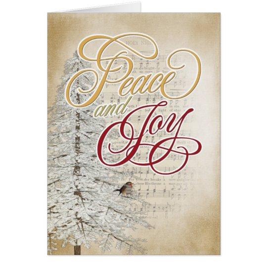 Weihnachtsmusik und -baum karte