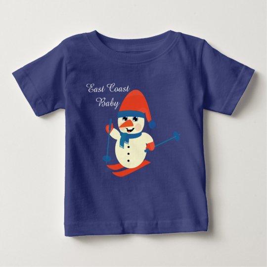 Weihnachtsostküsten-Baby niedliches Baby T-shirt