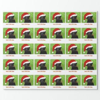 WeihnachtsPackpapier - Sankt kleiner Helfer Geschenkpapier