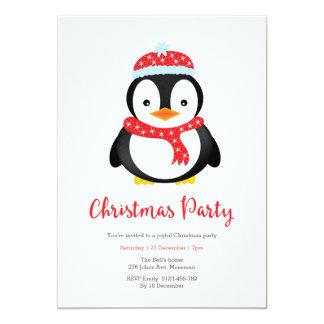 WeihnachtsParty Einladung | niedlicher Penguin