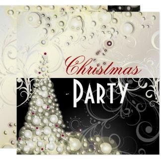 WeihnachtsParty Einladungen, Champagnerblasen Karte