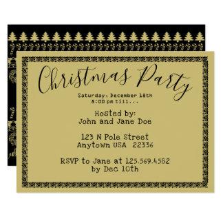 WeihnachtsParty - Gold/schwarzer Karte