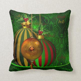WeihnachtsParty-Goldgrün-rote Kissen