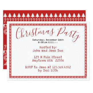 WeihnachtsParty-- roter/weißer Karte