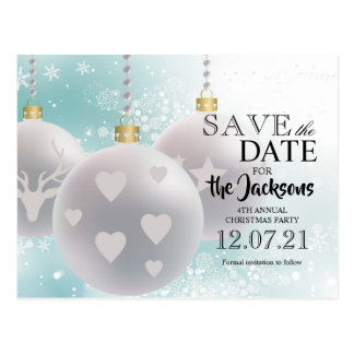 WeihnachtsParty - Save the Date Postkarte