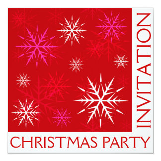 WeihnachtsParty-Schneeflocke-Einladungs-Karte Karte