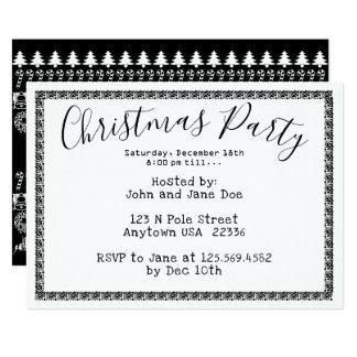 WeihnachtsParty-- weißer/schwarzer Karte