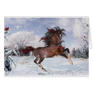 Weihnachtspferdearaber-Karte Karte
