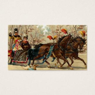"""""""WeihnachtsPferdeschlitten-Fahrt """" Visitenkarte"""