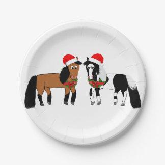WeihnachtspferdeTeller Pappteller