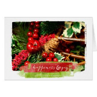 Weihnachtsphotographie Grußkarte