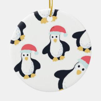 WeihnachtsPinguin-Baum-Dekoration Keramik Ornament
