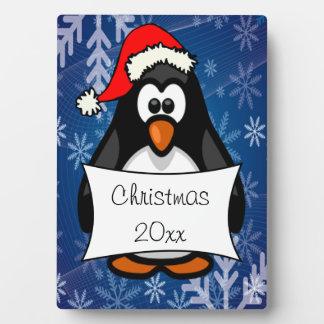 WeihnachtsPinguin Fotoplatte