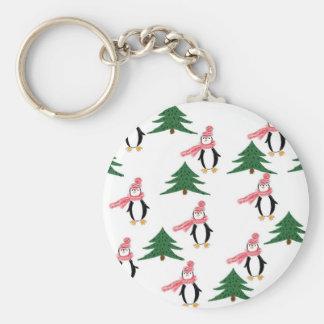 WeihnachtsPinguin-Muffin Schlüsselanhänger