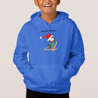 WeihnachtsPinguin-Skifahren Hoodie