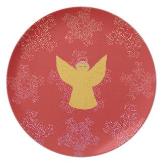 Weihnachtsplatten-dekorative Gewohnheit Teller