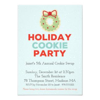 Weihnachtsplätzchen-Tauschen-Party Einladung