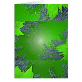Weihnachtspoinsettia-Grün Grußkarte