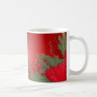 Weihnachtspoinsettia-Rot Tasse